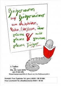 Der Lesekreis um Frau Tophinke trifft sich Donnerstag, den 30. Juni, um 17:00 Uhr in der Bürgerbegegnungsstätte (1. Raum rechts).